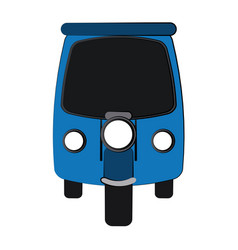 rickshaw or tuk tuk icon image vector image