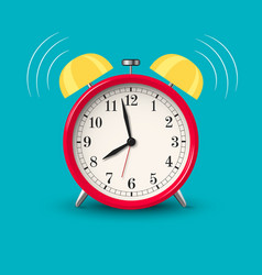 ringing alarm clock red in bright color style vector image