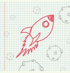 science class and school scribbles vector image