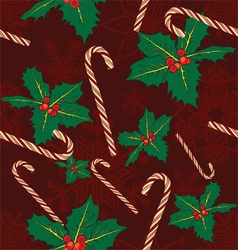 Seamless background with symbols of Christmas vector