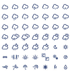 Set with weather icons vector