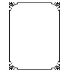 Simple ornamental decorative frame vector