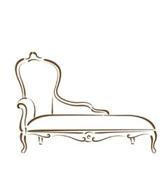 Sketched sofa vector image