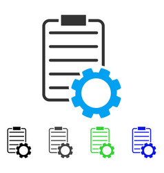Smart contract gear flat icon vector