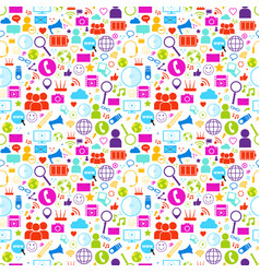 social media icons set on white background network vector image