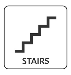 Stair sign Flat web icon vector