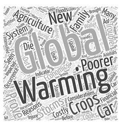 The economics global warming word cloud concept vector