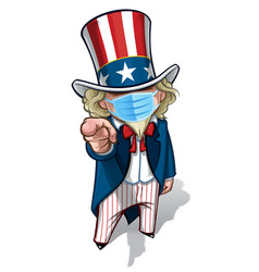 Uncle sam i want you - surgical mask vector