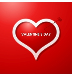Valentines day card design background vector image