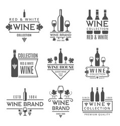 various wine brands design template vector image