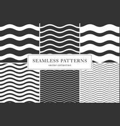 waves geometric seamless patterns vector image