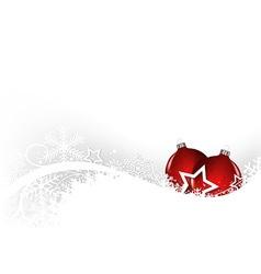 White Christmas Greeting Card vector image