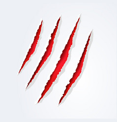 Wild animal monster claws scratches easy editable vector