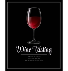 Wine tasting flyer template vector image
