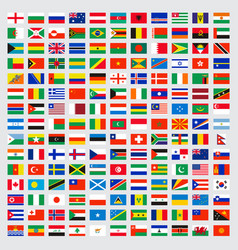 World flags collection laws name independent vector