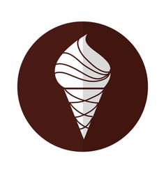 yummy ice cream cone vector image