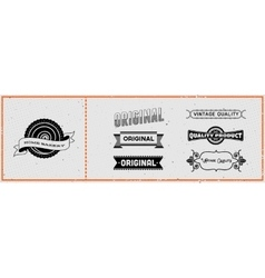 Set of retro hipster labels vector image vector image