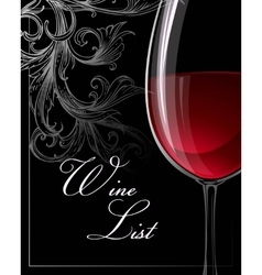 Template for wine list vector image