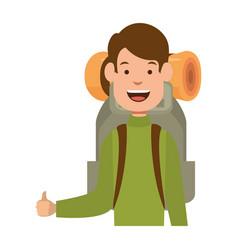 camping man icon vector image