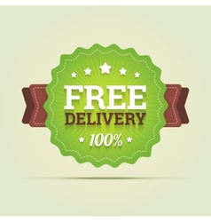Free delivery badge vector image vector image