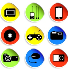 icon set of electronic gadgets vector image