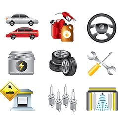Icons petrol vector