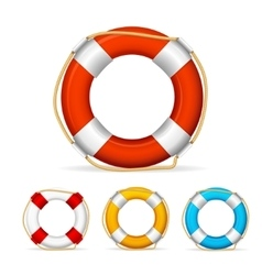 Life buoy color set vector