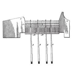 type justifying mechanism vintage vector image