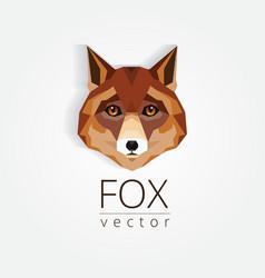 3d origami low polygon fox vector image