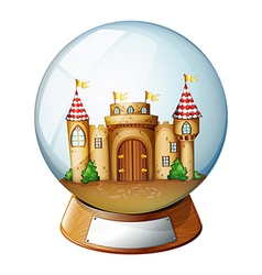 A palace inside the crystal ball vector image vector image