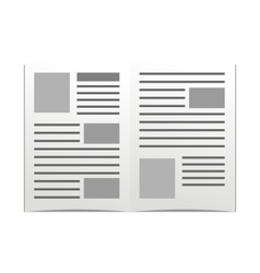 daily newspaper vector image vector image