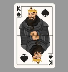 King of spades playing card vector image vector image