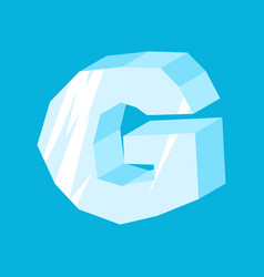 letter g ice font icicles alphabet freeze vector image vector image