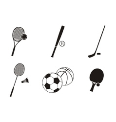 Sport Icon Black White Design Flat vector image vector image