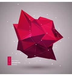 Abstract geometric shape background vector image