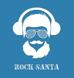 rock santa claus character vector image