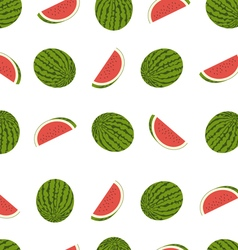 tasty watermelon seamless pattern vector image