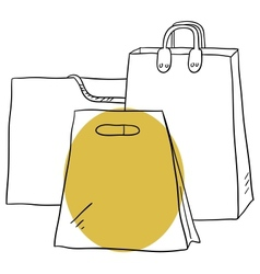 The bags vector image vector image