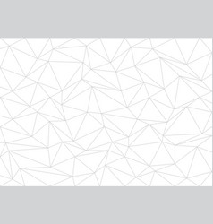 Abstract gray line triangle polygon on white vector