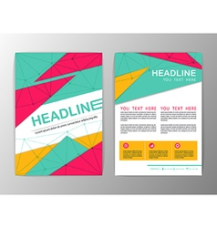 Abstract Triangle design Brochure Flyer template vector image