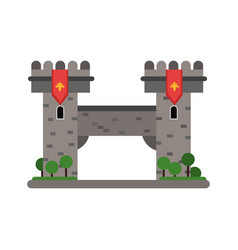ancient stone bridge medieval architecture vector image
