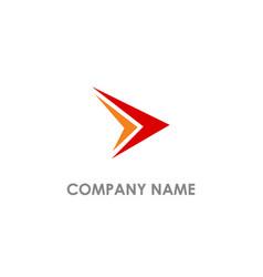 Arrow right triangle colored logo vector