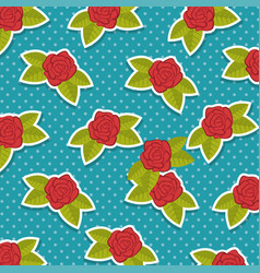 Background with pattern of roses vector