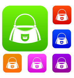 bag set color collection vector image