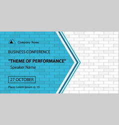 Banner template for business conferene vector