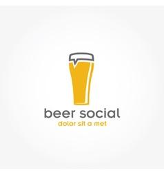 beer glass pub design template vector image