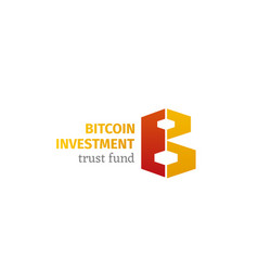 bitcoin investment emblem vector image