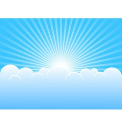 blue sky vector image
