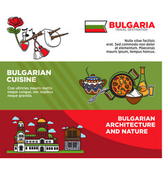 bulgaria travel destination promotional posters vector image