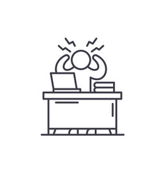 business stress line icon concept business stress vector image